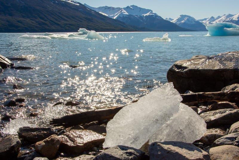 Perito moreno glacier panoramic view. In argentina stock photo