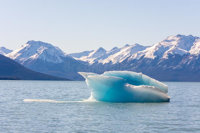 Perito moreno glacier panoramic view. In argentina royalty free stock photo