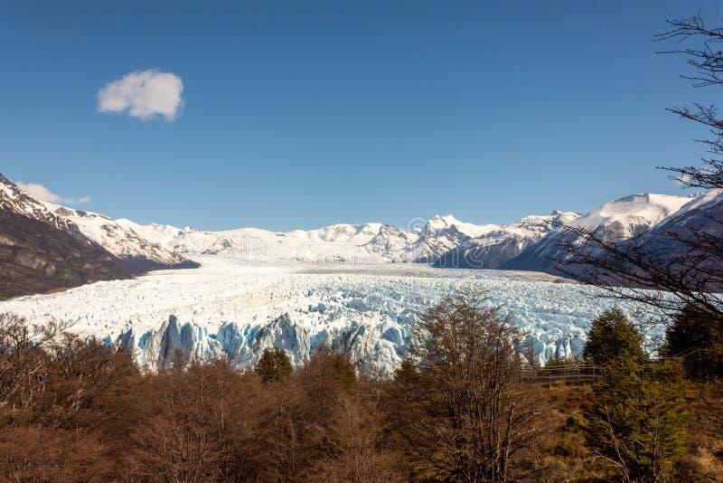 Perito moreno glacier panoramic view stock photography
