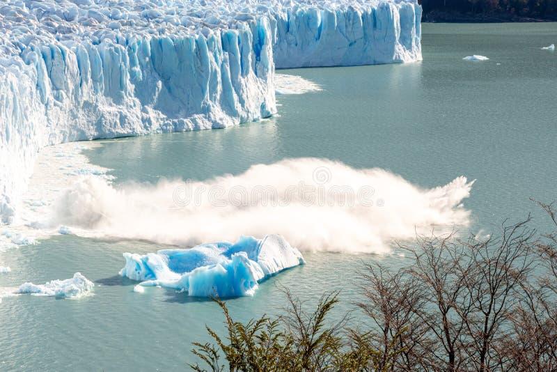 Perito moreno glacier panoramic view. In argentina royalty free stock image