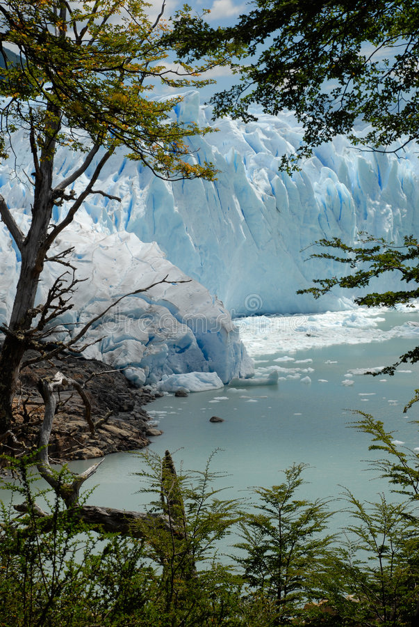 The Perito Moreno Glacier in Patagonia, Argentina. royalty free stock photography