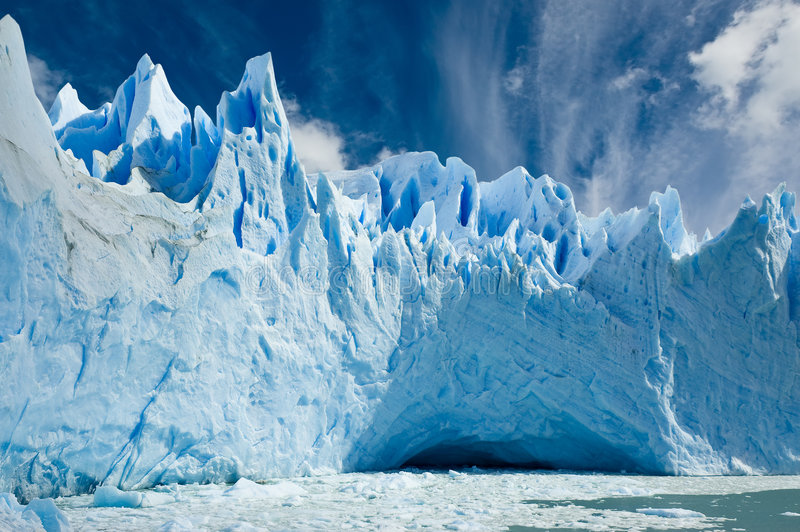 Perito Moreno glacier, Patagonia Argentina. stock photo