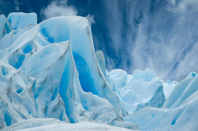 Perito Moreno Gletscher, Patagonia, Argentinien. stockbild