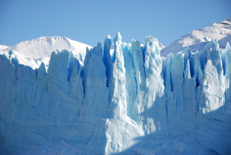 Perito Moreno ice front royalty free stock photography