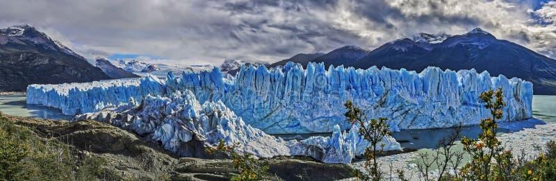 Perito Moreno lodowiec przy Los Glaciares parkiem narodowym Argentyna zdjęcia stock