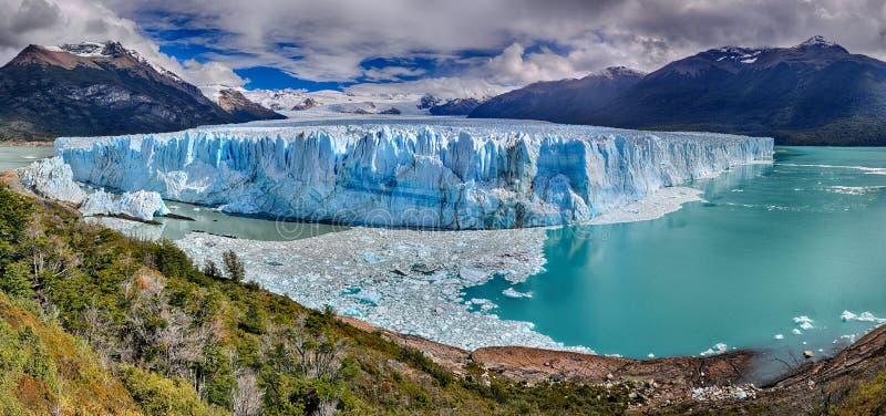 Perito Moreno lodowiec przy Los Glaciares parkiem narodowym N P Argentyna obraz stock