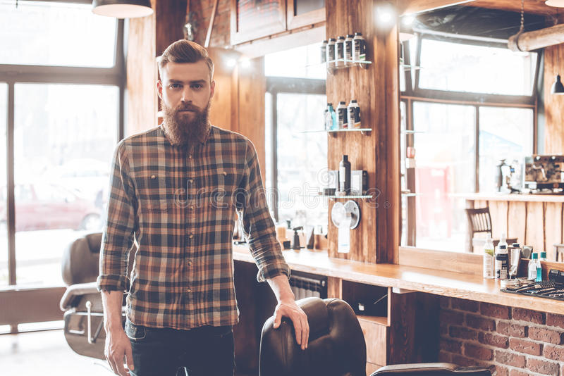 Perito seguro do barbeiro imagens de stock