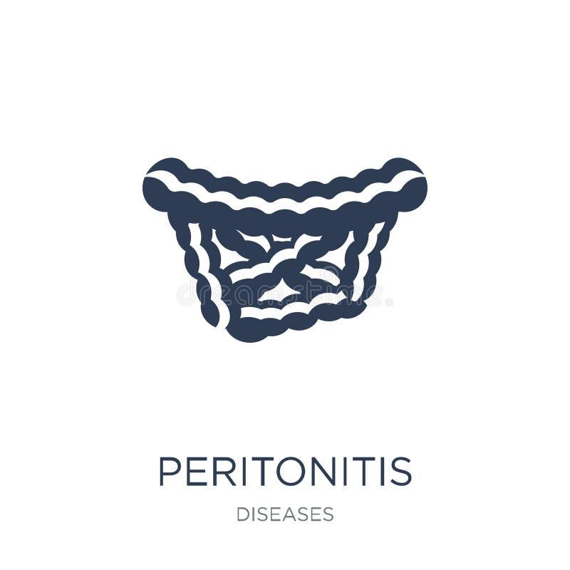 Peritonitis ikona Modna płaska wektorowa Peritonitis ikona na biały b ilustracji