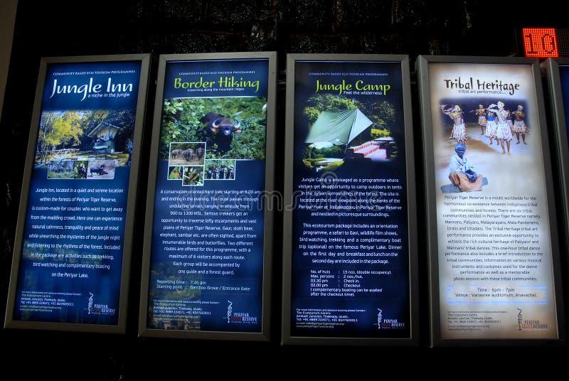 Periyar nationalpark och djurlivfristad royaltyfria foton