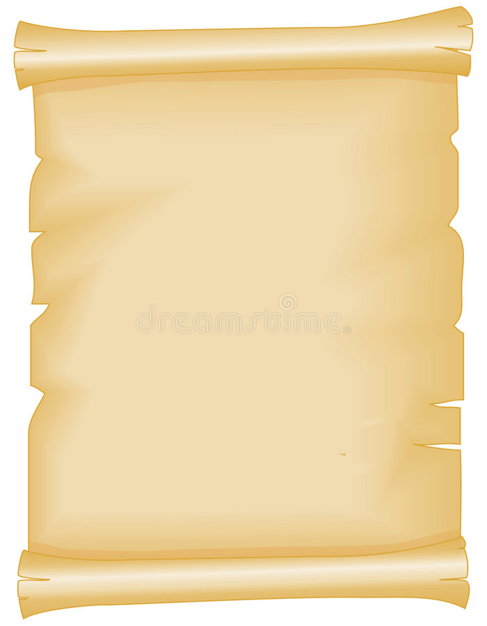 Perkament vector illustratie