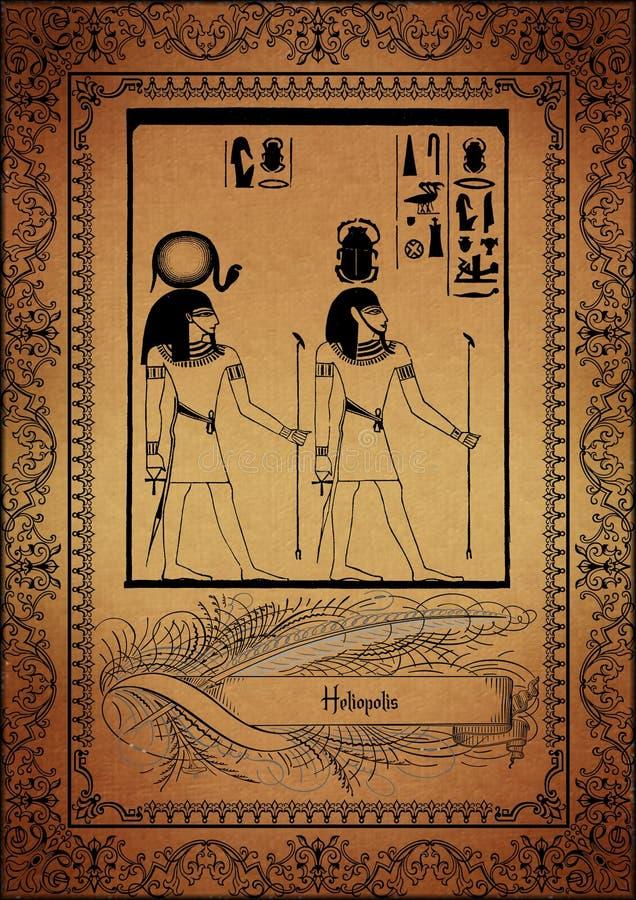Perkament-Egyptenaar stock illustratie