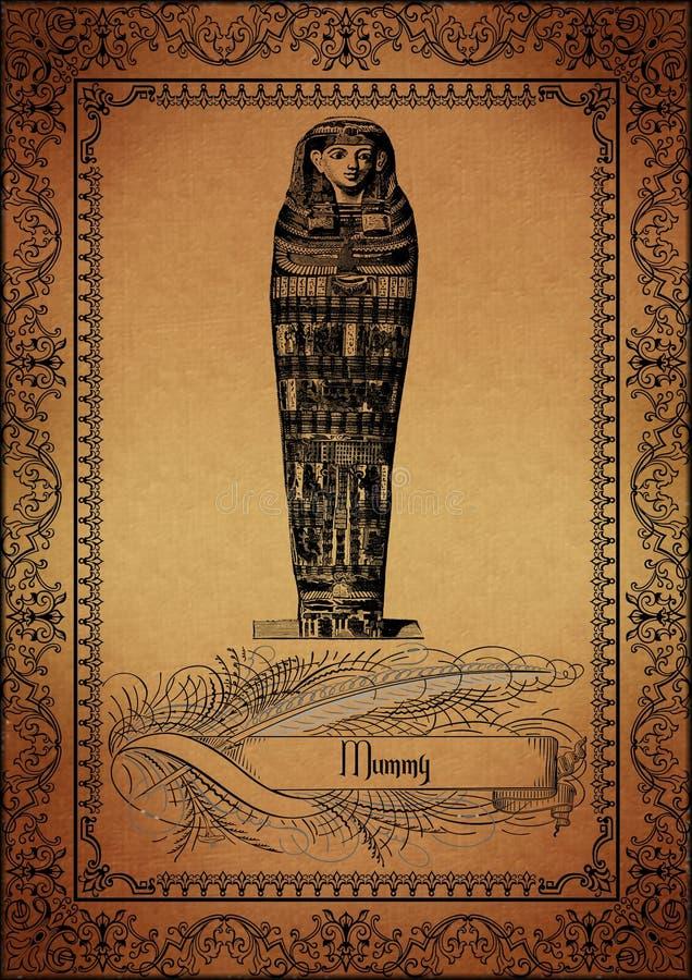 Perkament-Egyptenaar royalty-vrije illustratie