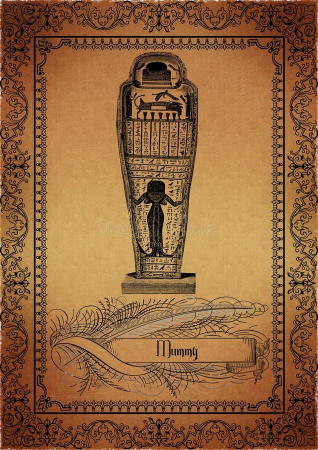 Perkament-Egyptenaar vector illustratie