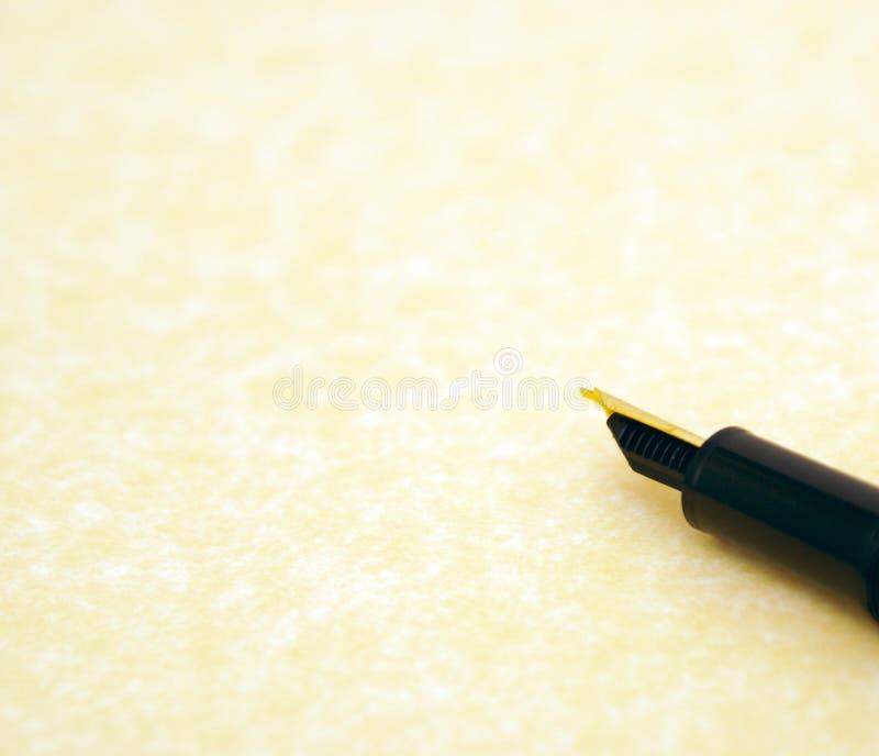 Perkament en pen stock foto