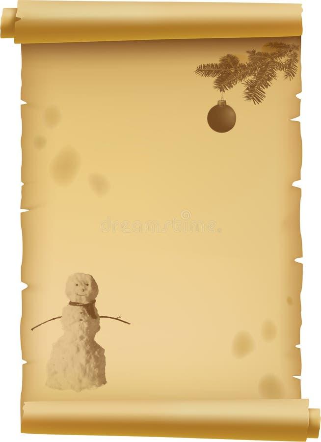 Perkament voor Kerstmis vector illustratie