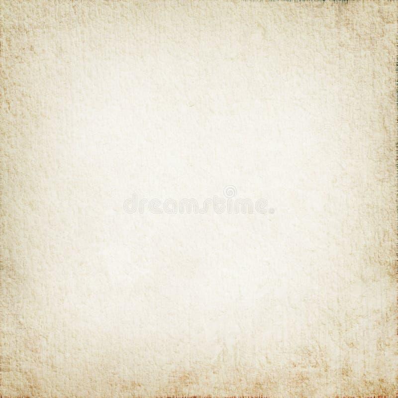 Perkamentdocument textuur als witte grungeachtergrond met gevoelig vignet stock afbeeldingen