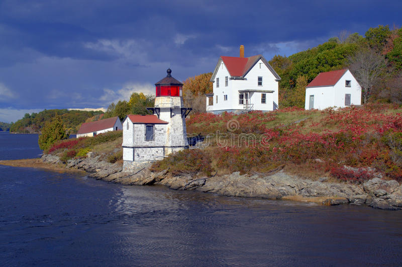 Perkins Island Lighthouse royaltyfria foton