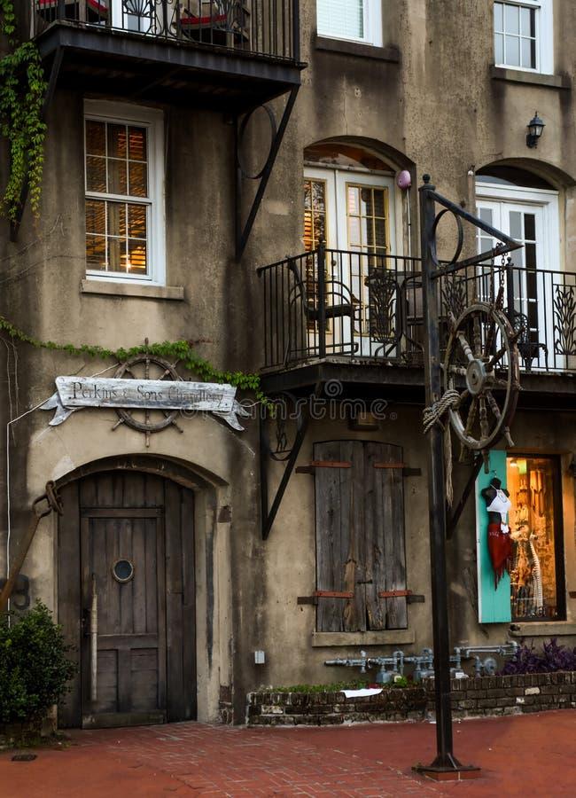 Perkins & Sons Chandlery, Savannah, GA. royalty free stock photos