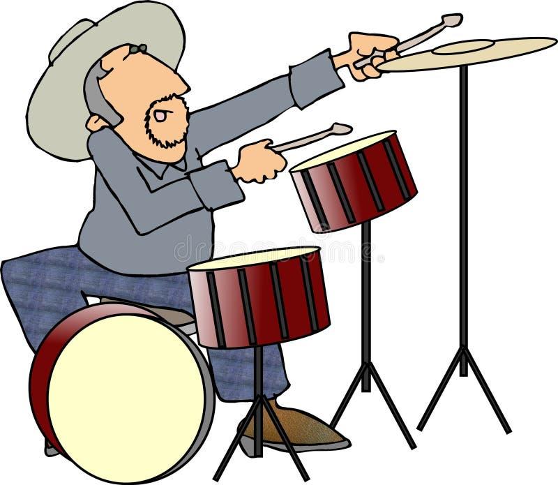 perkusista royalty ilustracja