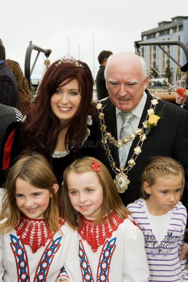 Perl 2009 de la ostra de Galway y alcalde de Galway fotos de archivo libres de regalías