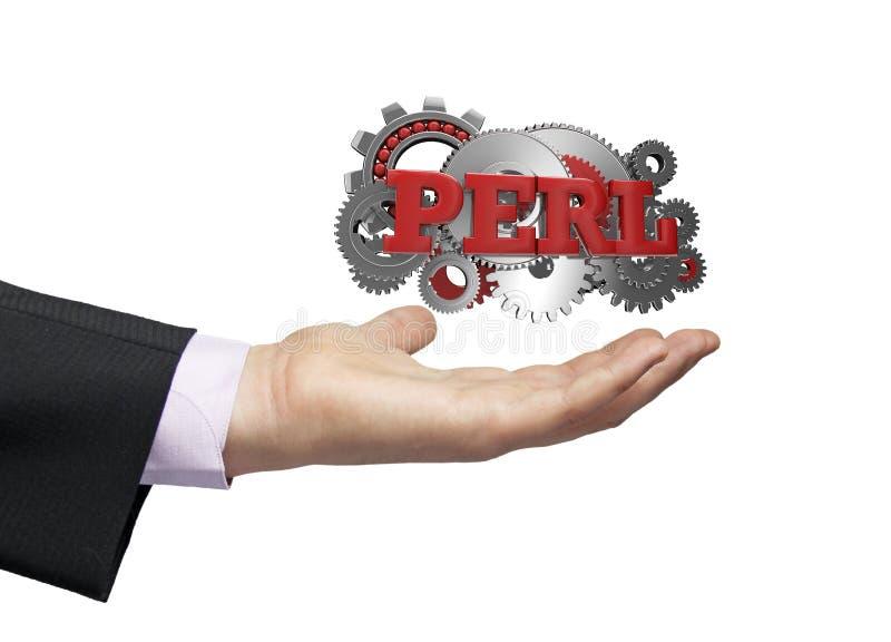 Perl biznesmen royalty ilustracja