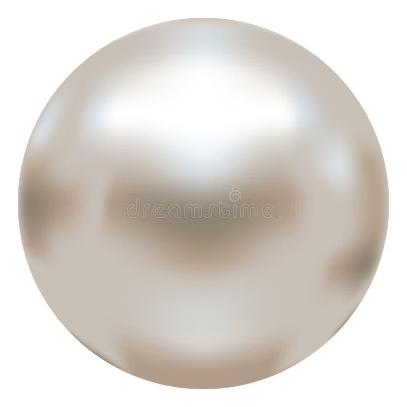Perla bianca elegante royalty illustrazione gratis