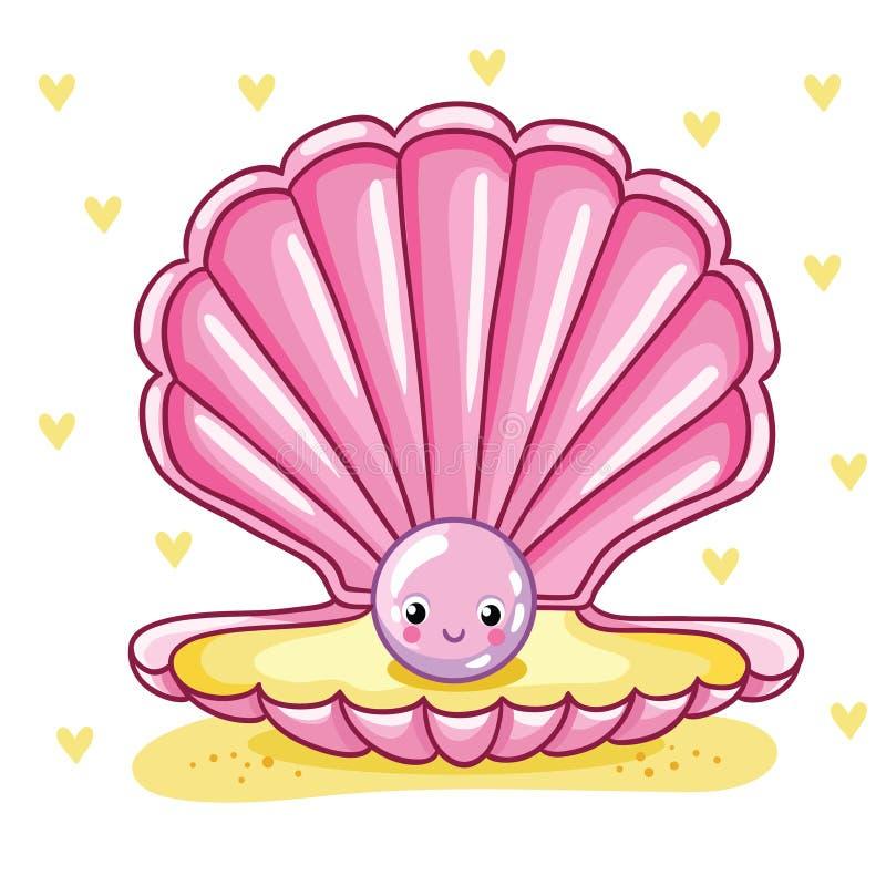 Perla del mare nelle coperture royalty illustrazione gratis