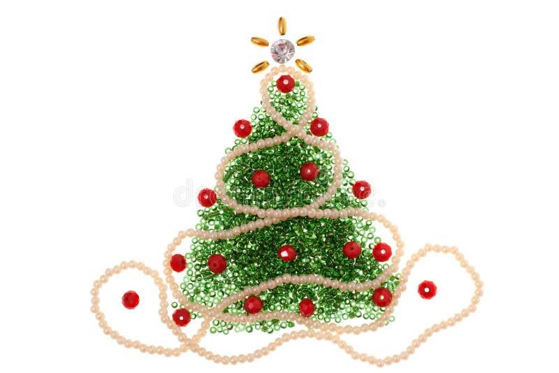 Perla dell'albero di Natale immagine stock