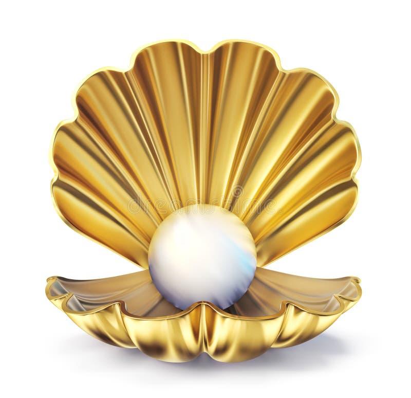 Perla dorata illustrazione vettoriale