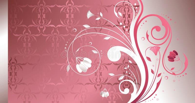 Perla floreale illustrazione di stock