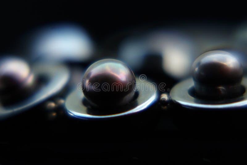 Perla negra imágenes de archivo libres de regalías