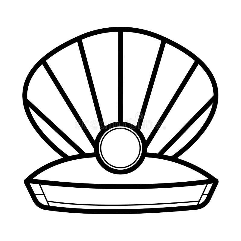Perla nelle coperture aperte illustrazione vettoriale