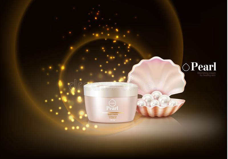 Perla Shell Cosmetic Composition royalty illustrazione gratis