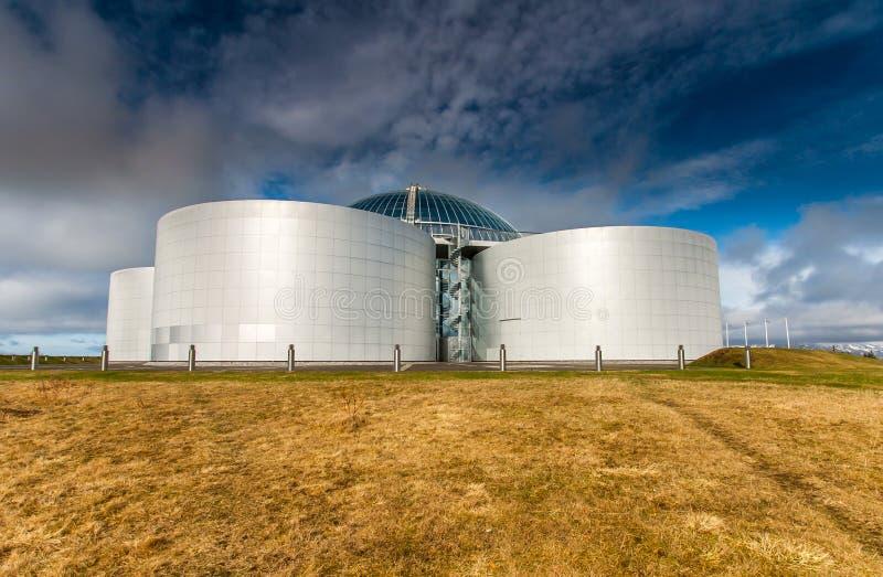 Perlan,雷克雅未克冰岛。 库存照片