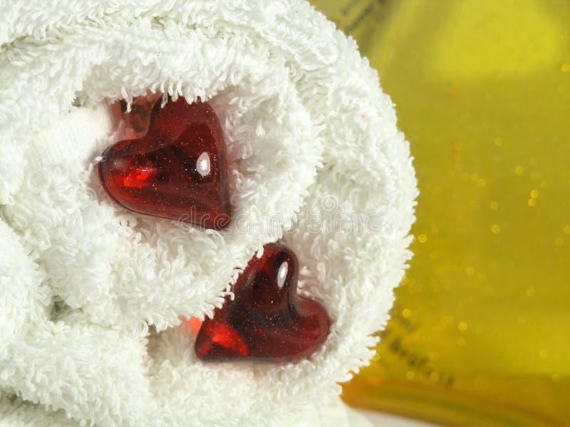 Perlas del baño fotos de archivo