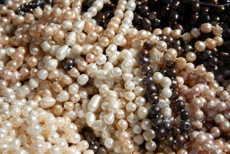 Perlas del río imagenes de archivo