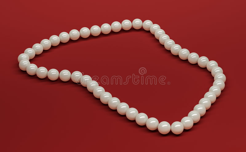 Perle 3D stock abbildung