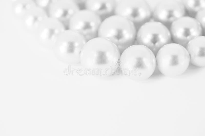 Perle bianche immagine stock libera da diritti