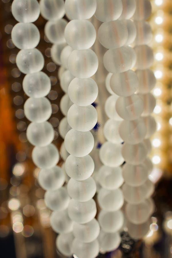 Perle dello stessi tipo e colore fotografia stock