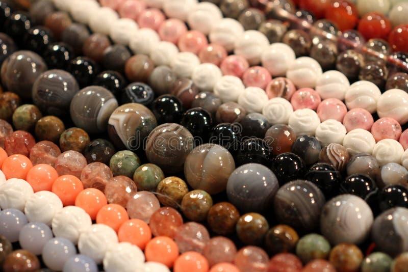 Perle di pietra rotonde immagine stock libera da diritti