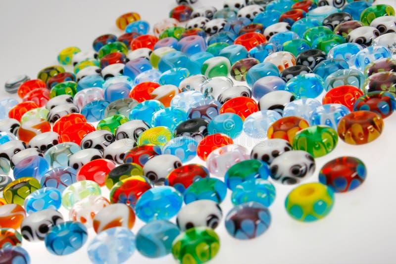 Perle di vetro rotonde fotografia stock