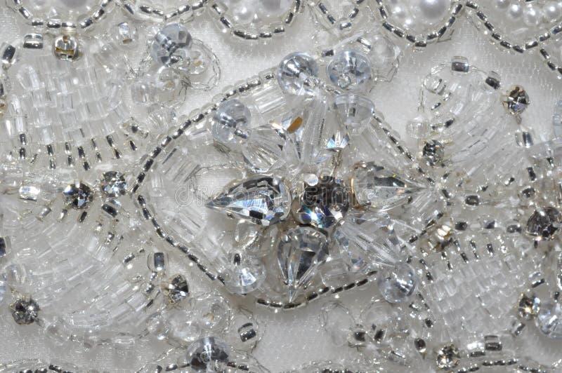 Perle et Crystal Wedding Dress Detail photo stock