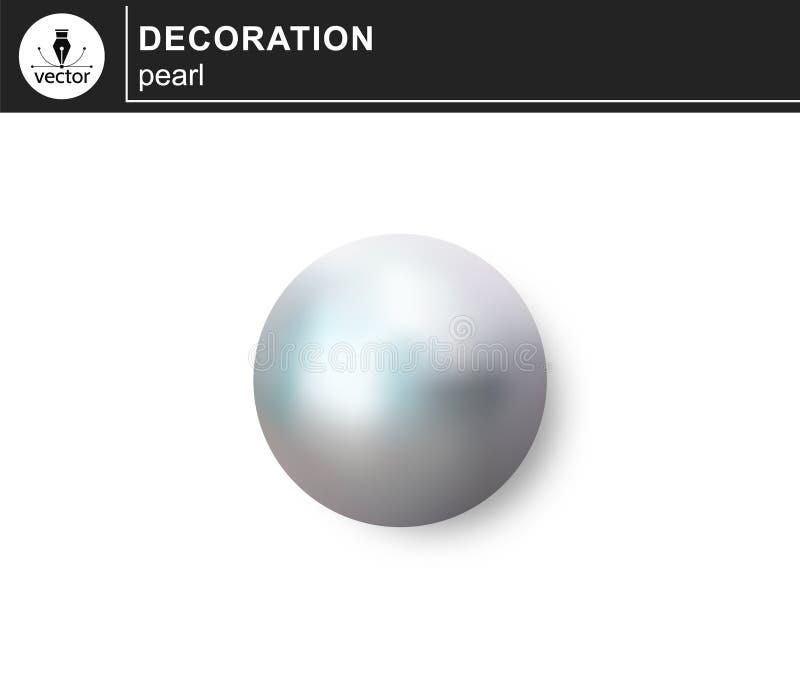 Perle getrennt auf weißem Hintergrund vektor abbildung