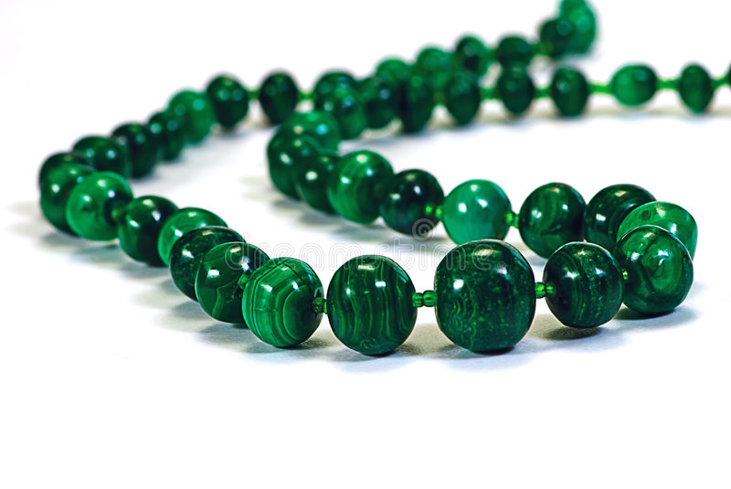 perle le collier de malachite photographie stock libre de droits