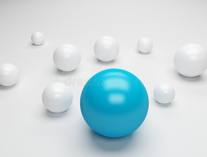 Perle mögen Plastikkugeln stock abbildung