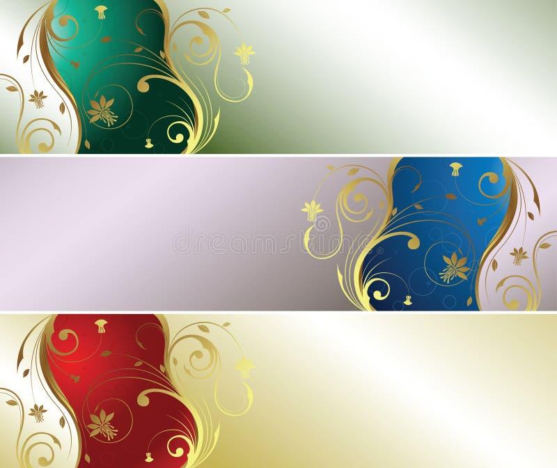 Perle mit Blumen lizenzfreie abbildung