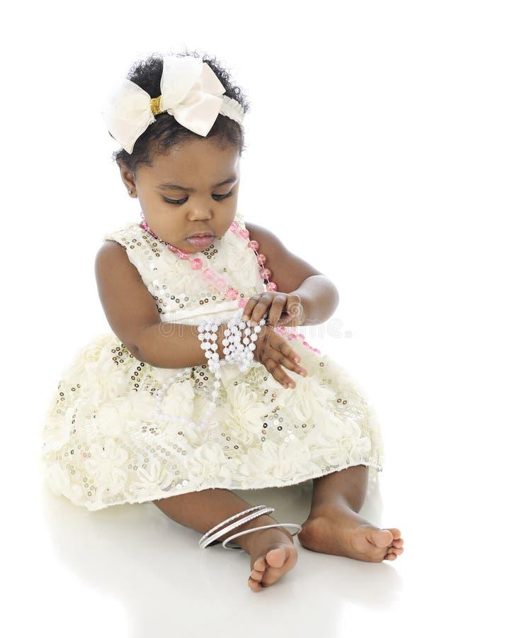 Perle sul bambino fotografia stock libera da diritti