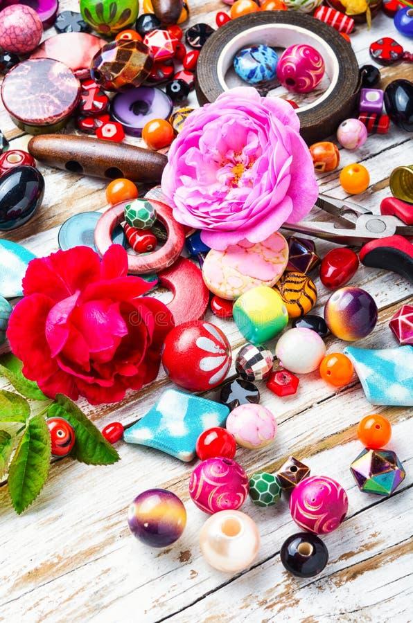Perle, perle variopinte fotografie stock libere da diritti