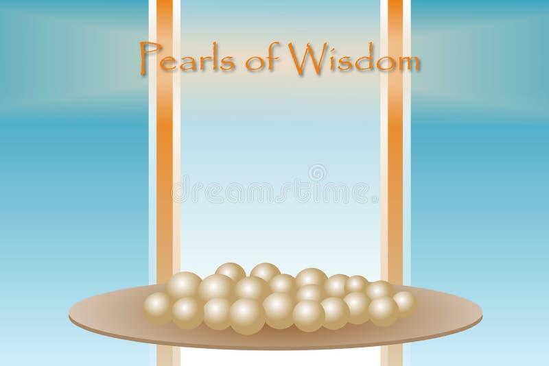 Perlen von Klugheit lizenzfreie abbildung