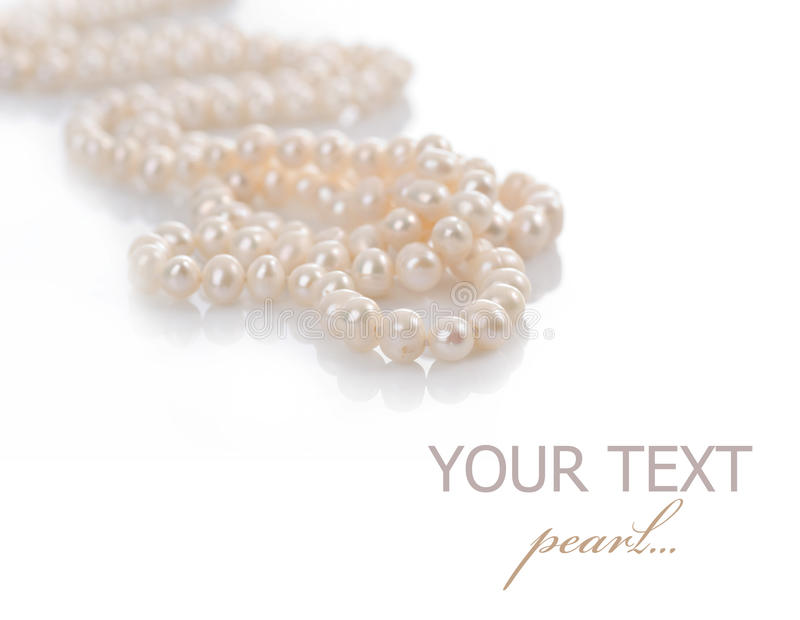 Perlenhalskette lizenzfreies stockbild